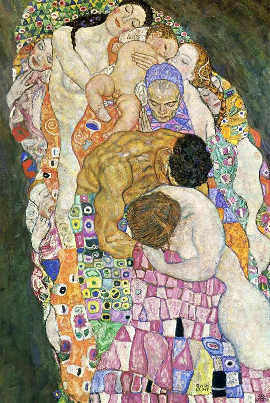 Why is Klimt famous: Gustav Klimt, Life and Death, 1916, Leopold Museum, Vienna