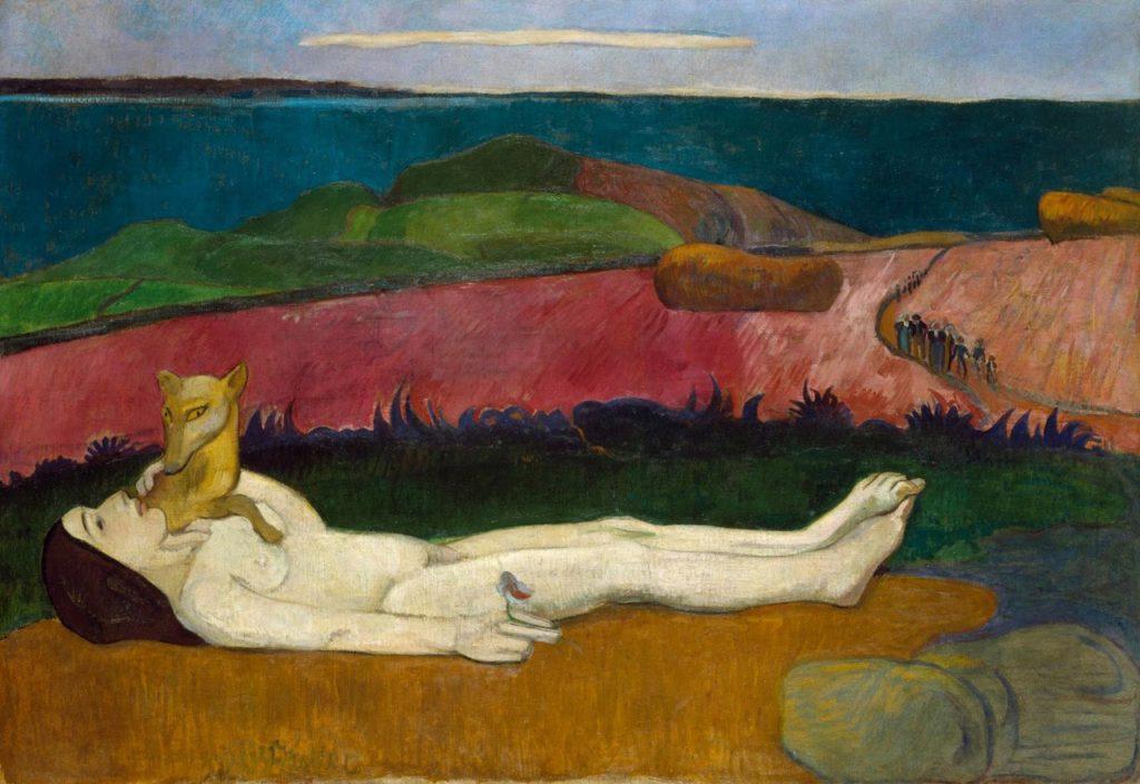 spring paintings art masterpieces to welcome spring Paul Gauguin, The Loss of Virginity (The Awakening of Spring), 1891, Chrysler Museum of Art, Norfolk, Virginia