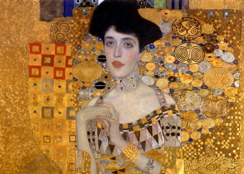 Why is Klimt Famous: Gustav Klimt, Portrait of Adele Bloch-Bauer I (also called The Lady in Gold or The Woman in Gold), 1903-07, Neue Galerie, New York