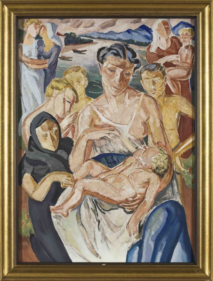 Mela Muter, Mother with child, 1930s, private collection. Wikimedia Commons.