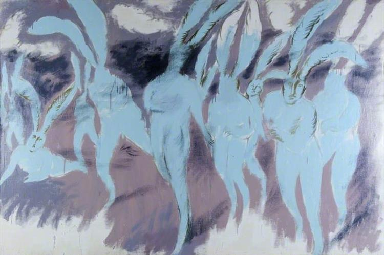 Oleg Holosiy,Psychedelic Attack of the Blue Rabbits, 1990, Glasgow Museums, bunny paintings