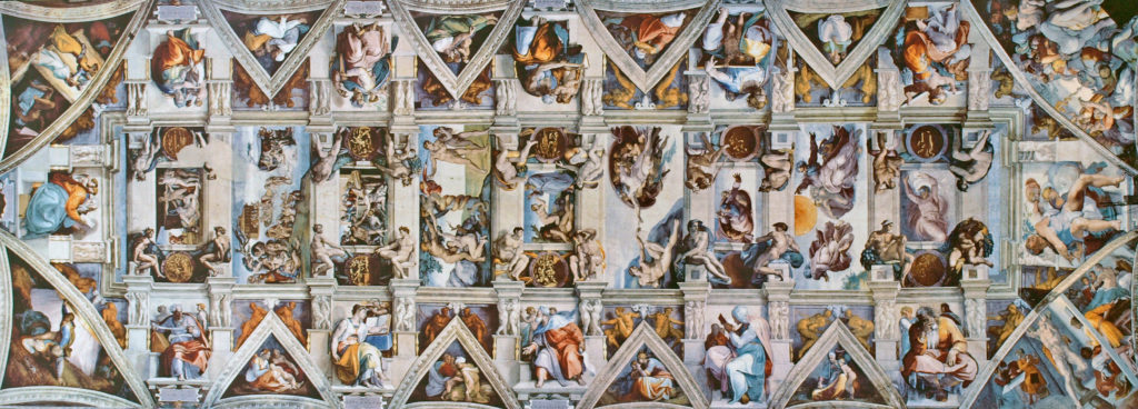 The ceiling of Sistine Chapel