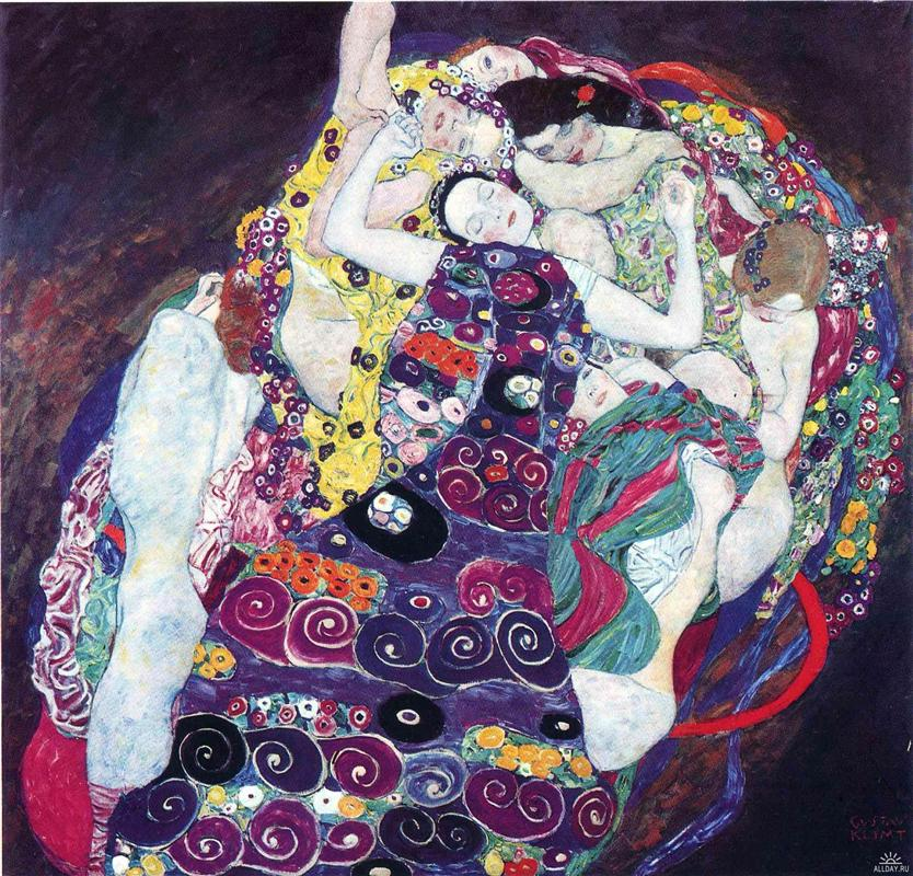 Why is Klimt famous: Gustav Klimt, The Virgin (Die Jungfrau), 1913, National Gallery, Prague
