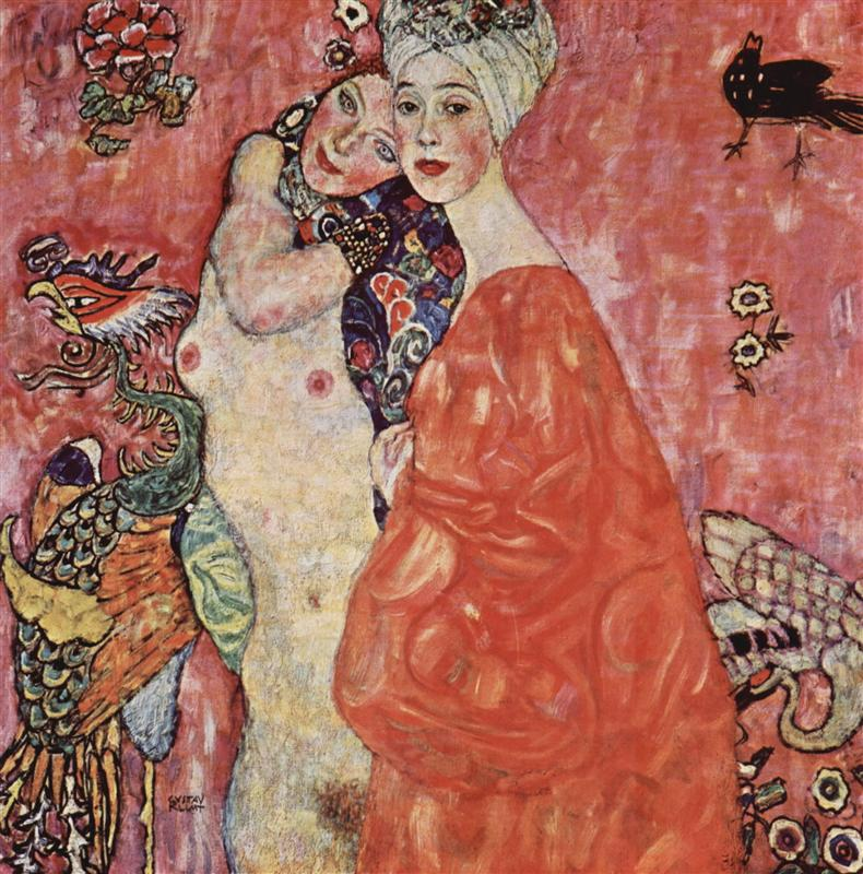 Why is Klimt famous: Gustav Klimt, The Women Friends, 1927, destroyed