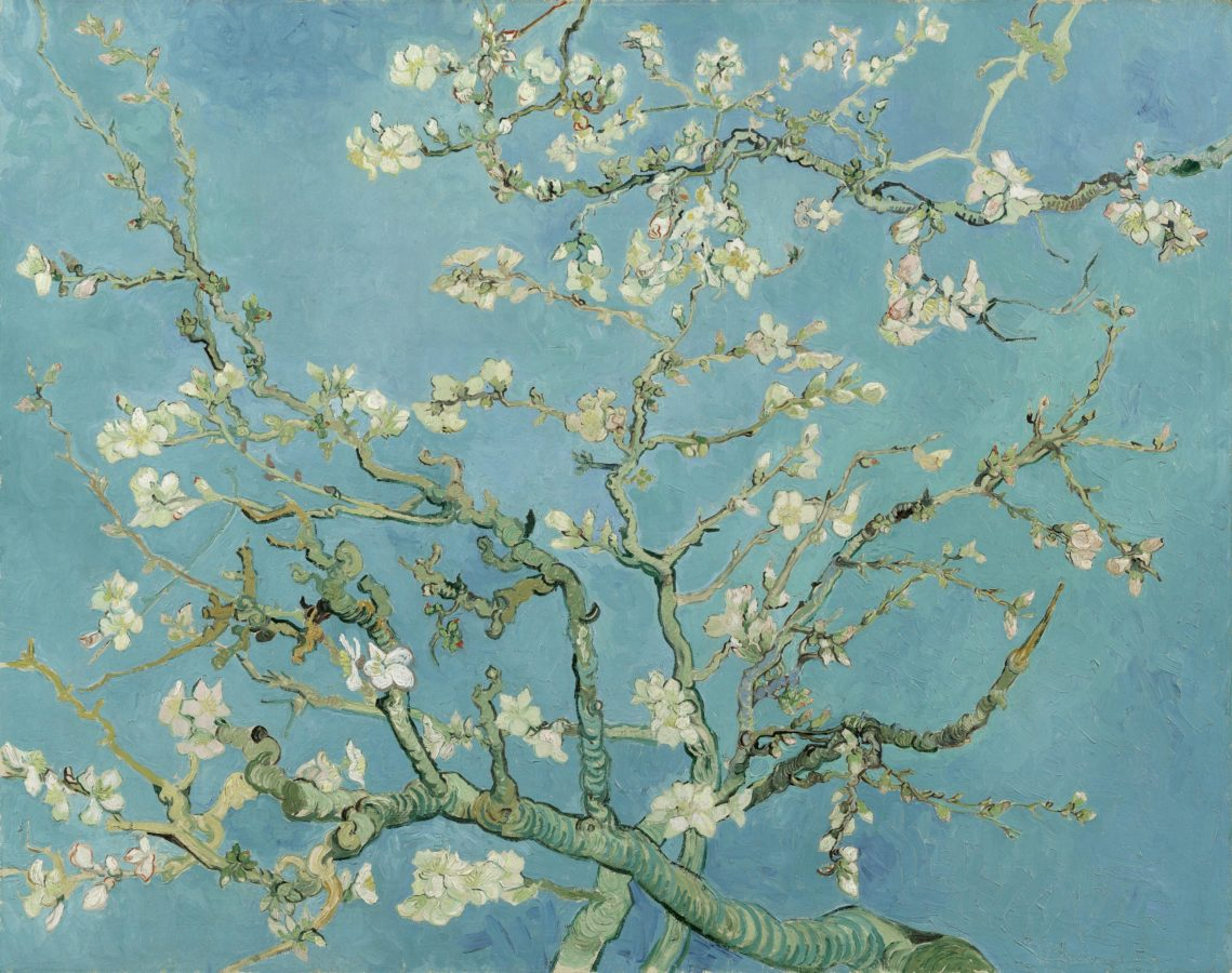 spring paintings Vincent van Gogh, Almond Blossom, 1890, Van Gogh Museum, Amsterdam art masterpieces to welcome spring