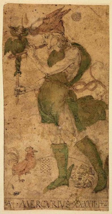 Mantegna Tarocchi Albrecht Dürer Serie A, 42 - Mercury (Cards from the Mantegna Tarocchi)