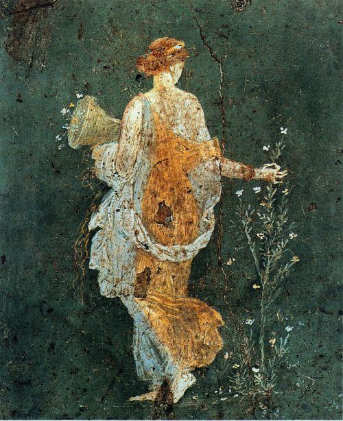 Personification of Flora, fresco, 1st century CE, Pompeii