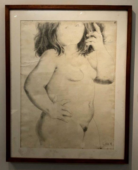 Enrique Grau, Desnudo Femenino, 1971. Pencil drawing. Museo de Arte Moderno de Cartagena, Colombia. Photo by Howard Schwartz.