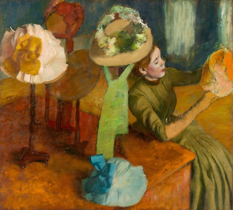 Edgar Degas, The Millinery Shop, 1884, Art Institute of Chicago, Chicago,jobs which dont exist anymore