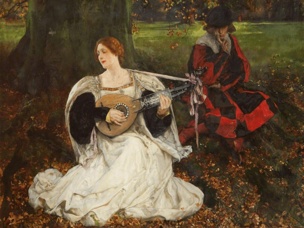 Fair Is My Love, Abbey's Shakespeare paintings. Edwin Austin Abbey, Fair Is My Love