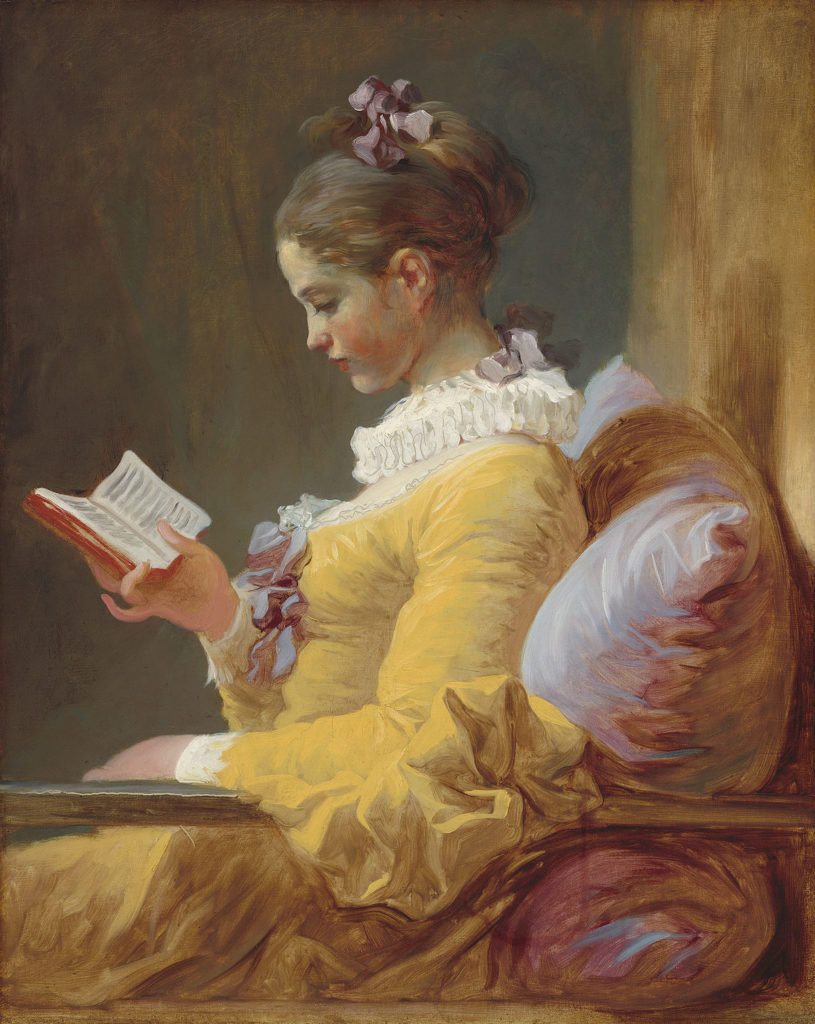 Jean-Honoré Fragonard Jean-Honoré Fragonard, Young Girl Reading, or The Reader, c. 1770, National Gallery of Art, Washington