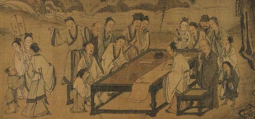 Composing Poetry on a Spring Outing by Ma Yuan, genius artist Ma Yuan