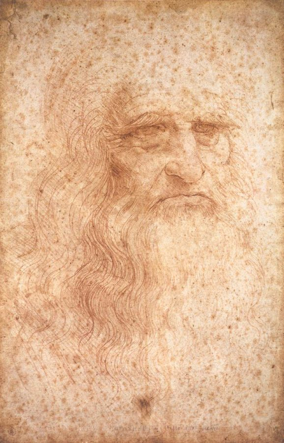 Leonardo da Vinci, Portrait of a man in red chalk, c.1512, Portrait of A Man in Red Chalk