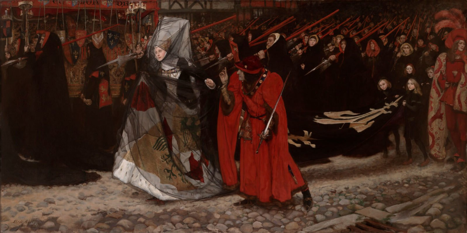 Richard, Duke of Gloucester, and the Lady Anne, Abbey's Shakespeare paintings