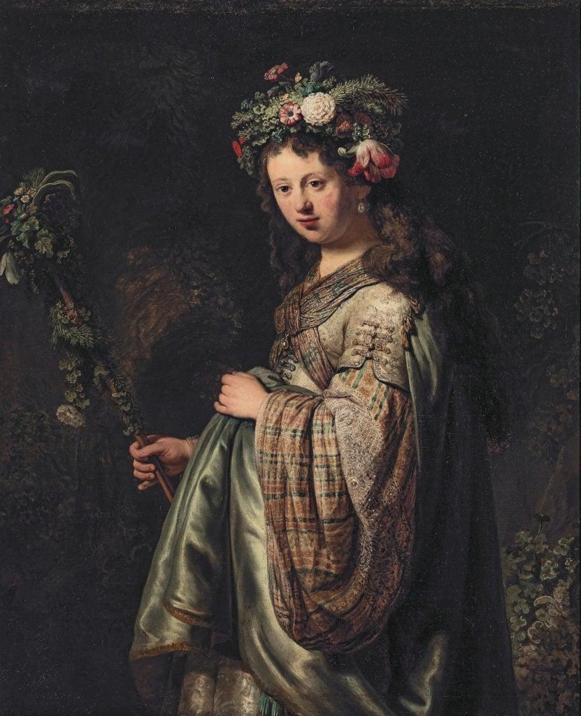 Rembrandt van Rijn, Saskia van Uylenburgh as Flora