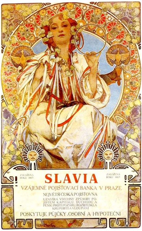 Alfons Mucha, Slavia, 1896,location unknown posters in art history