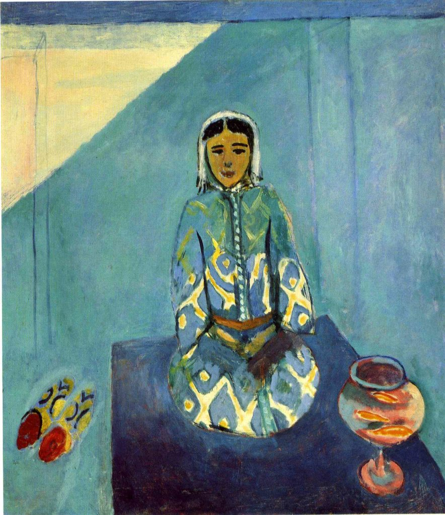 Henri Matisse, Zorah on the terrace, 1912, The Pushkin State Museum of Fine Arts, Moscow, Russia.