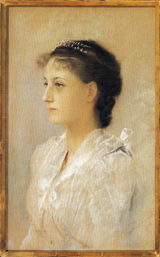 Gustav Klimt Portrait of the 17 year old Emilie, 1891, private collection, klimts unknown portraits