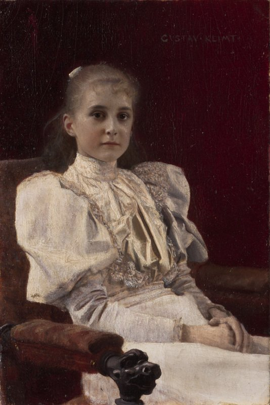 Klimt, Young Girl sitting, 1894, Leopold Museum Vienna, klimt's unknown portraits