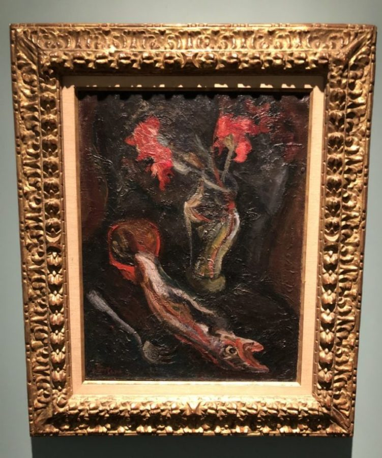 Chaim Soutine, 'Flowers and Fish,' 1919 Soutine's Exhibition at the Jewish Museum