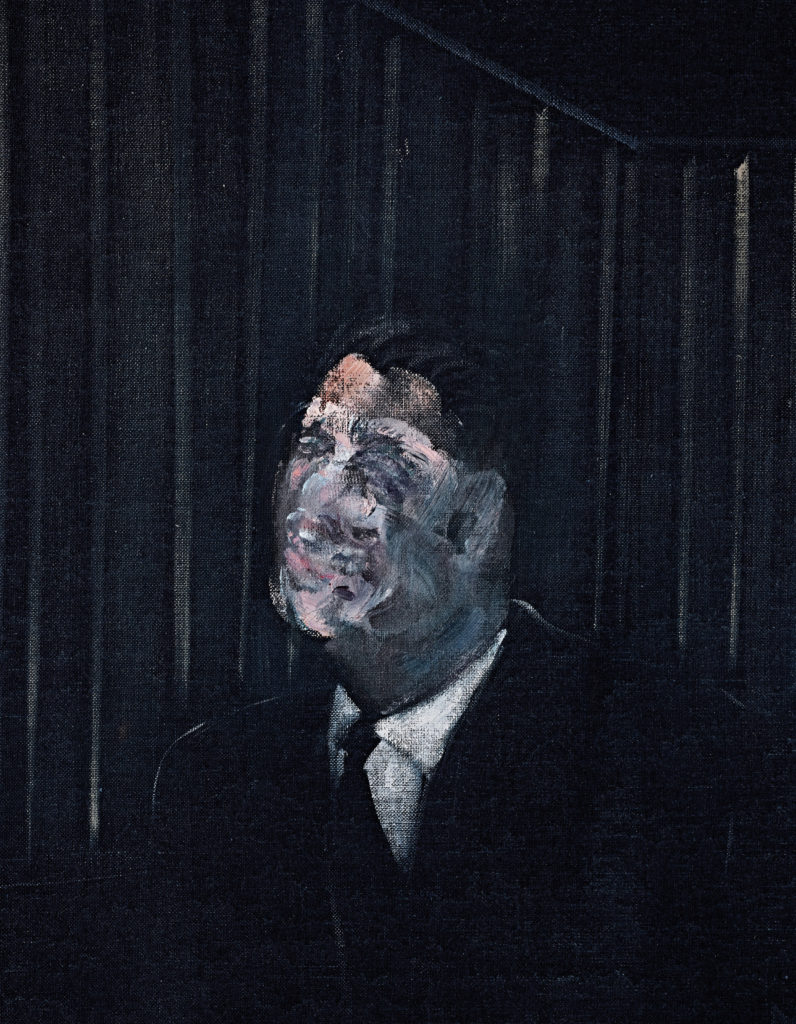 The Man in Blue Francis Bacon, Man in blue VII, 1954, Man in Blue by Francis Bacon