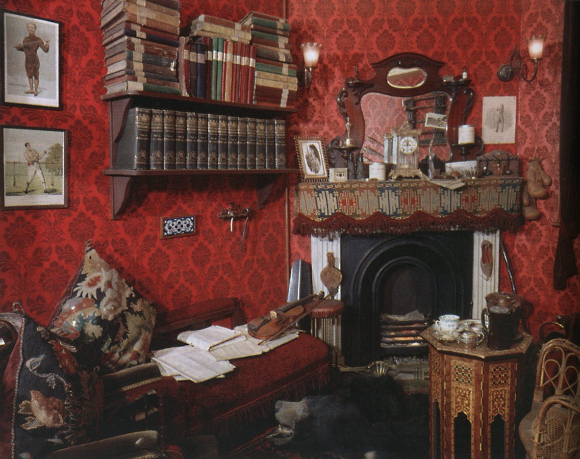 Five Things Everyone Should Know About the Victorians: Reconstruction of Sherlock Holmes' room, at the Sherlock Holmes pub, London