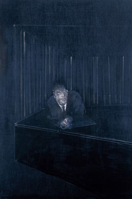 Francis Bacon, Man in blue IV, 1954, private collection