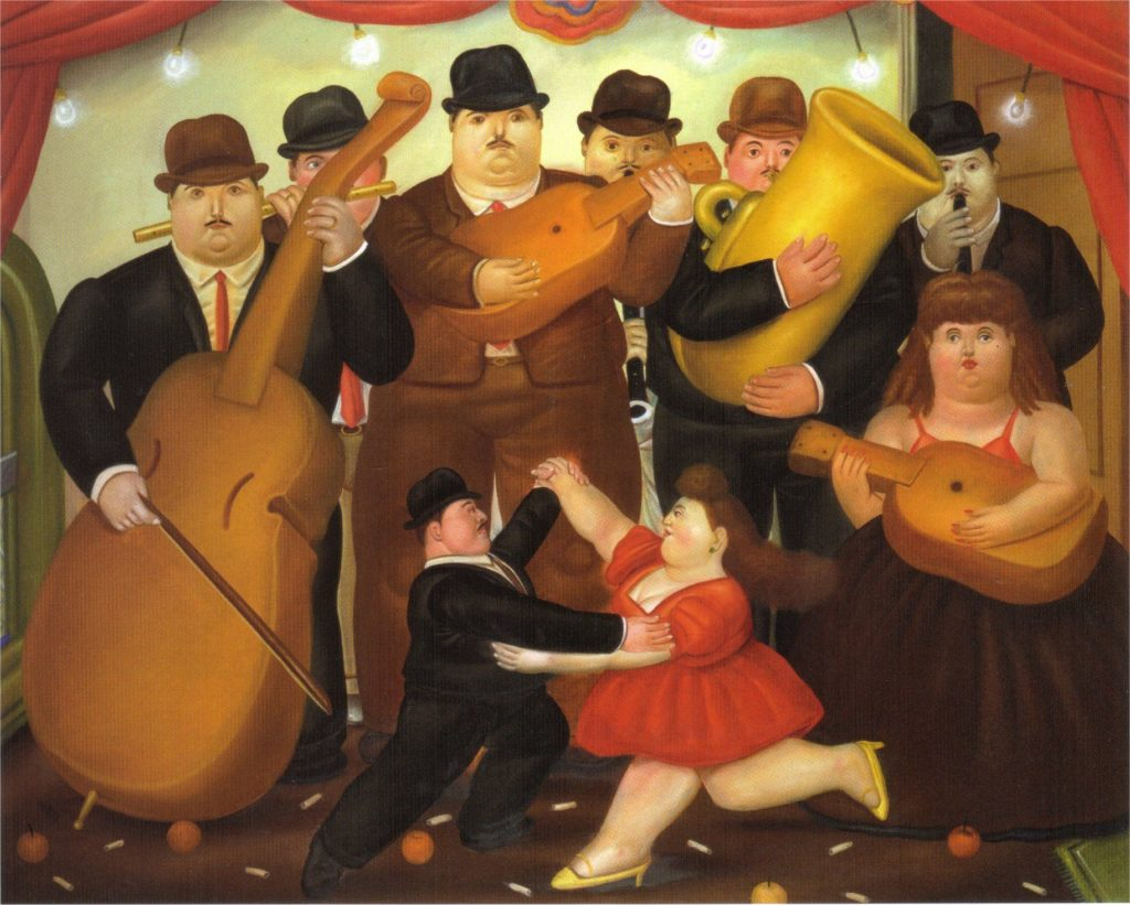 Fernando Botero, Dance in Colombia, 1980, Botero's Guide to Colombian History