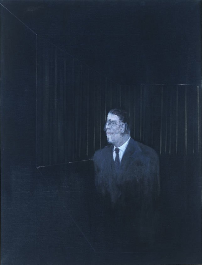 The Man in Blue Francis Bacon, Man in Blue II, 1954, Private Collection Man in Blue by Francis Bacon