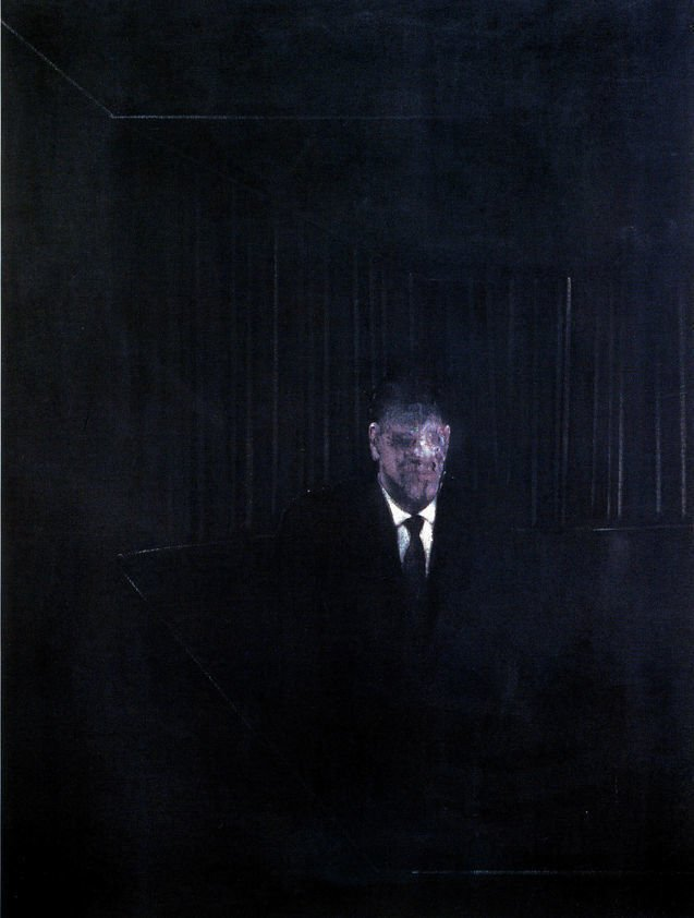 The Man in Blue Francis Bacon. Man in Blue III. 1954, Private Collection. Man in Blue by Francis Bacon