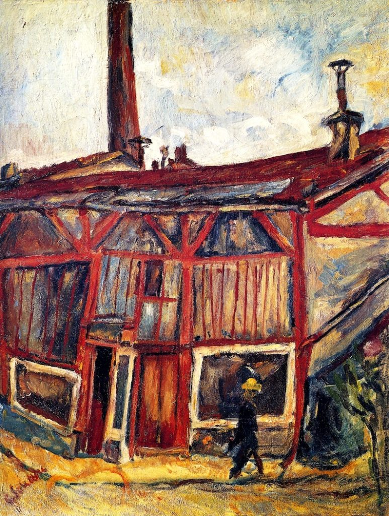 Chaim Soutine, 'The Artist's Studio, Cité Falguière,' 1916. Soutine's Exhibition at the Jewish Museum