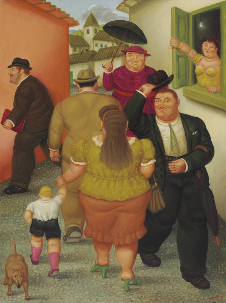 Fernando Botero, The Street, 1995, Botero's Guide to Colombian History