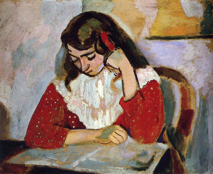 Henri Matisse, Portrait de Marguerite (The Reader), 1906, Musée de Grenoble, famous painters and their children