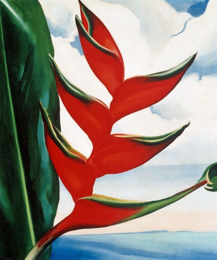 Georgia O'Keeffe, Heliconia: Crabs Claw Ginger, 1939, private collection of Sharon Twigg-Smith Georgia O'Keeffe: Visions of Hawaii.