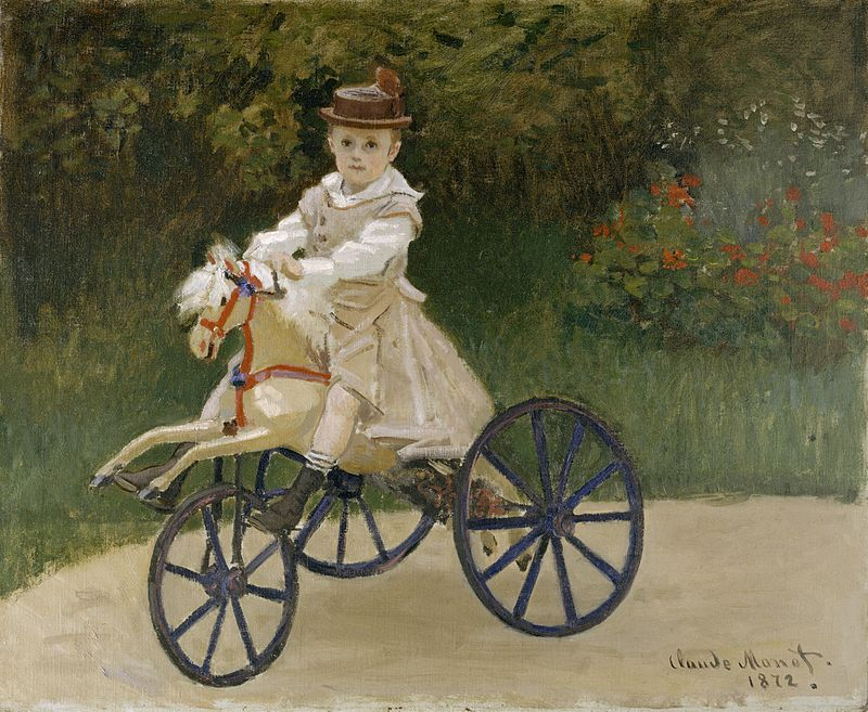 Claude Monet, Jean Monet on his Hobby Horse, 1872, Metropolitan Museum of Art, famous painters and their children
