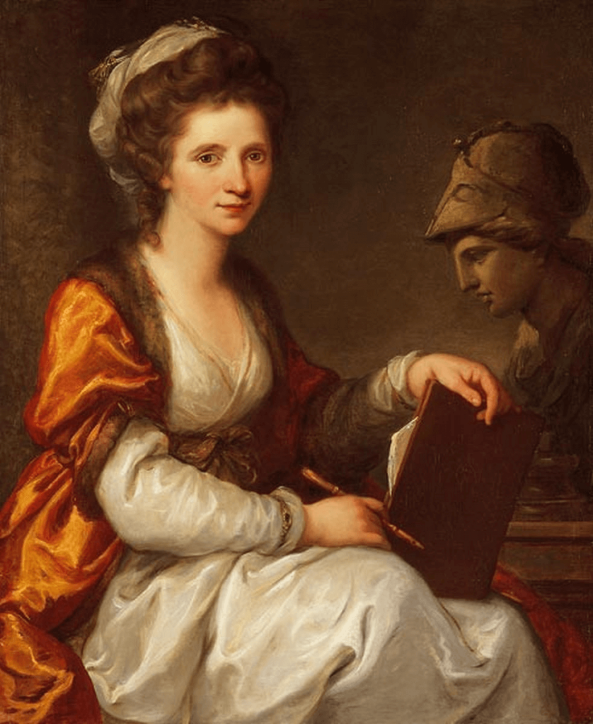 Angelica Kauffmann Self-Portrait as Minerva Cornelia, Mother of the Gracchi