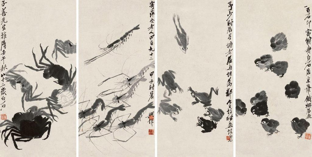 Qi Baishi, Aquatic Life and Chicks, Source: comuseum.com