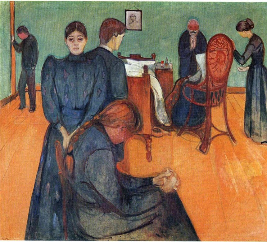 Edvard Munch, Death in the Sick Room, 1893, Munch Museum, Oslo Munch Frieze of Life