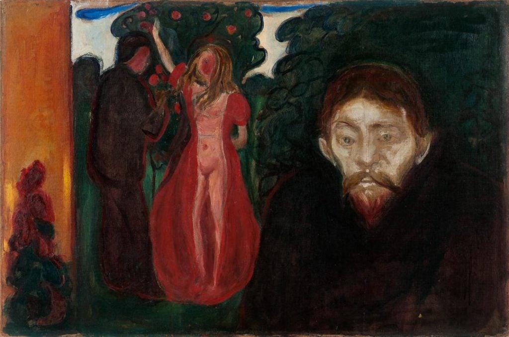 Edvard Munch, Jealousy, 1895, Rasmus Mayer Samlinger, Bergen Kunstmuseum