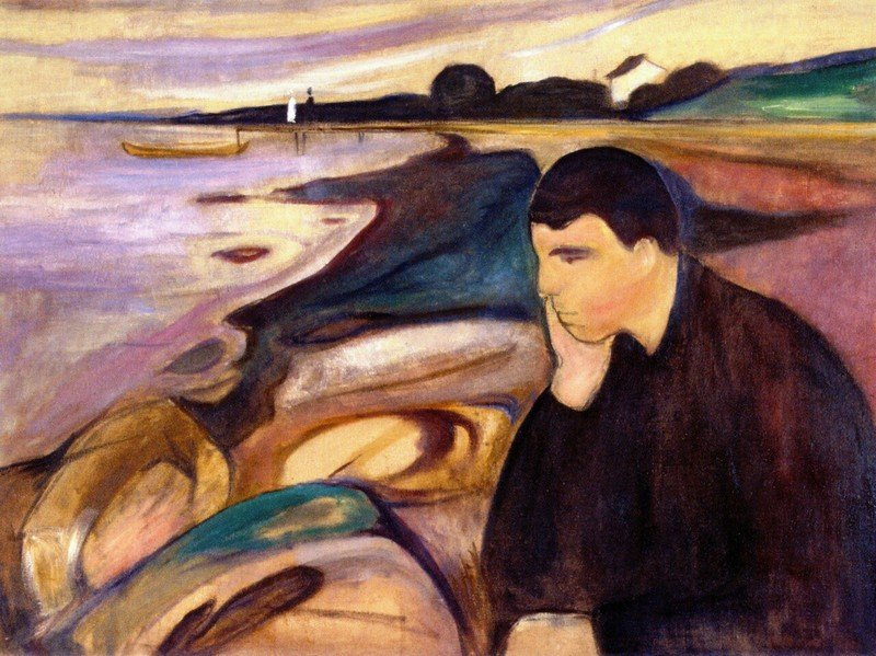 Edvard Munch, Melancholy, 1894, Private Collection