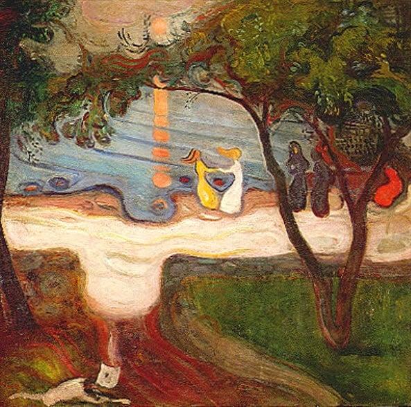 Edvard Munch, The Dance on the Shore (1900) Narodin Galerie, Prague