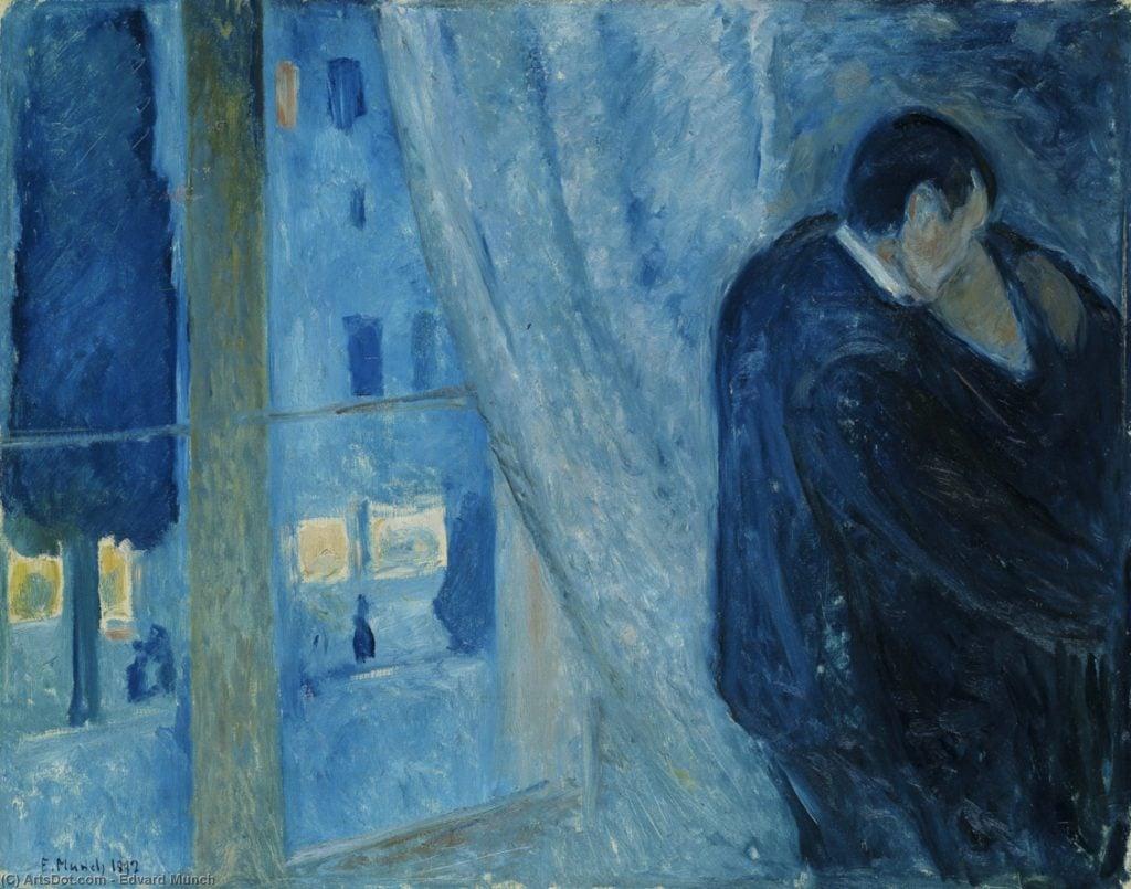 Edvard Munch, The Kiss, 1892, Nasjonalgalleriet, Oslo