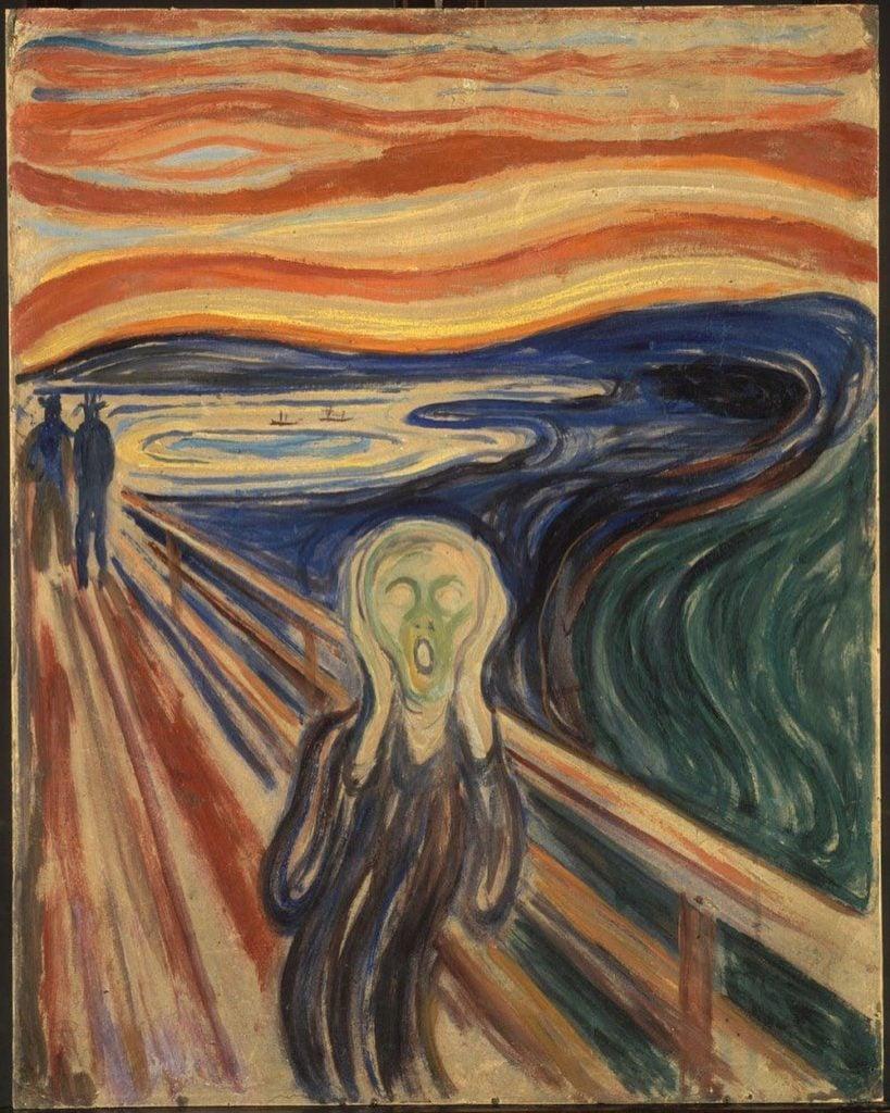 Edvard Munch, The Scream, 1893, Nasjonalgalleriet, Oslo