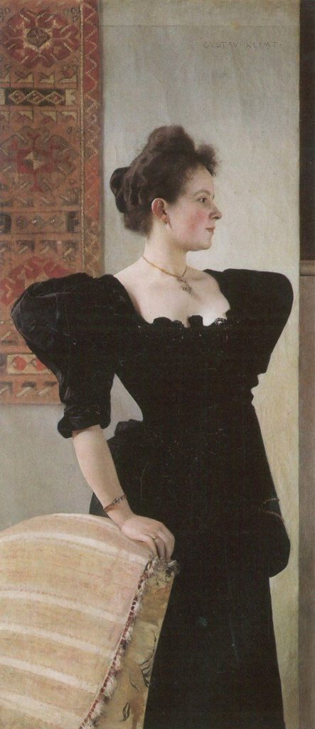Gustav Klimt, Portrait of Marie Breunig, 1894, private collection klimt's unknown portraits