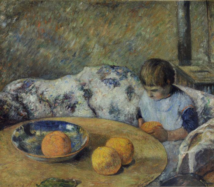Paul Gauguin, Interieur avec Aline Gauguin, 1881, Museums Sheffield, UK (on loan from a private collection), famous painters and their children