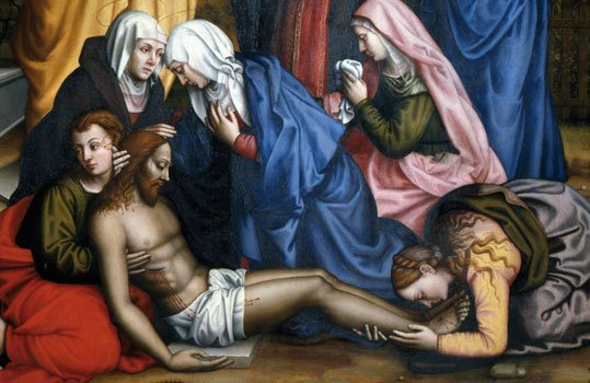Plautilla Nelli, Lamentation with Christ, mid.16th cent., Musem of San Marco, Florence, AWA Foundation, restoration last supper