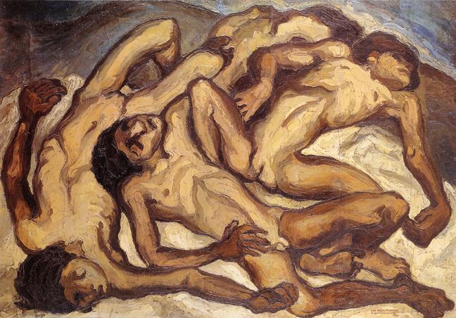 Oswaldo Guayasamín, Los niños muertos (The Dead Children), 1941, Fundación Guayasamín