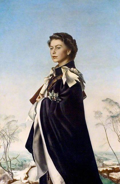 Pietro Annigoni, Queen Regent, 1955,Royal Collection Trust