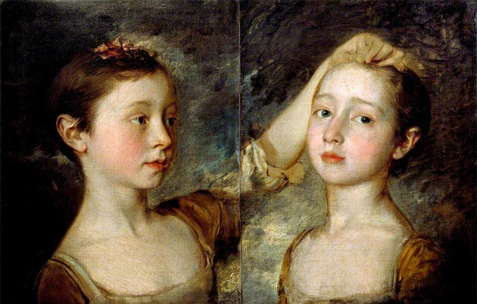 Portrait of the Artist's Two Daughters Gainsborough's daughters