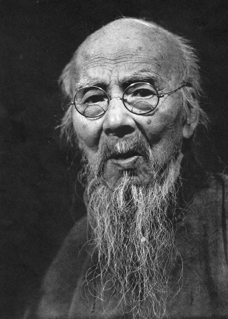 Qi Baishi by Zheng Jingkang, 1956, public domain